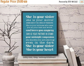 60% OFF SALE Gifts for Sister, Gift Ideas for Sister, Printable Art, Sister Quote Poster, Big Sister Gift Ideas, Christmas Gift Ideas, Art P