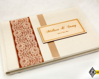 Wedding Guestbook With Lace
