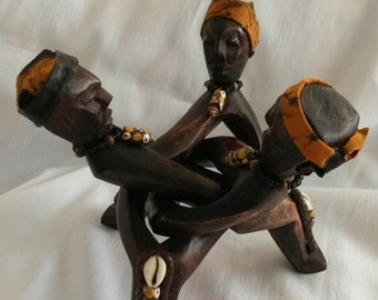 African Art, Sculpture, Wood Carving, Unity, Yuruba,