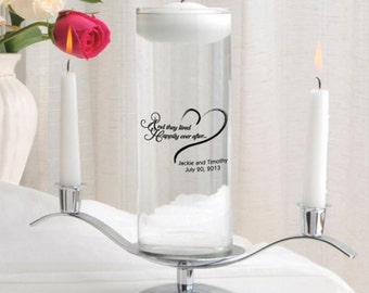 Personalized candles floating unity candle set monogrammed customized monogram engraved custom wedding favors pillar for less RR10608