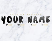 Marble & Gold Font Youtube Banner / Custom