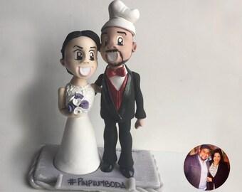 Wedding Custom Figurine (cake topper) cold porcelain, clay