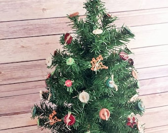 Christmas Tree Primitive Rustic Up Cycled Eco Friendly READY TO SHIP