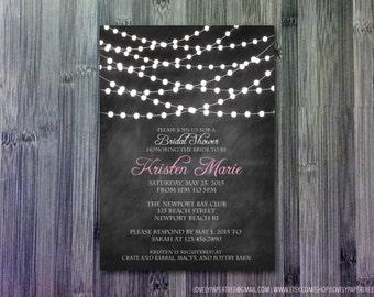Bistro Lights Bridal Shower Invitation | BS2