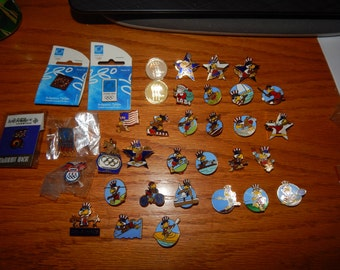 Collection of 35 Olympic Pins Only 1 Duplicate