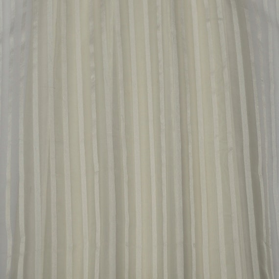 How To Basket Weave Tulle : White organza with satin stripes silk fabric