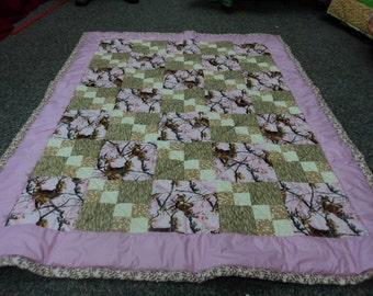 Pink Deer quilt