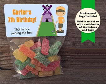 Miniature Golf Party, Miniature Golfing Party, Miniature Golf Favors, Miniature Golf Stickers, Miniature Golfing, Mini Golf Birthday Party