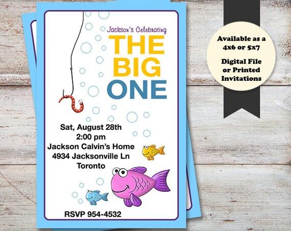 Fishing birthday party invitations fish birthday invitations for Fishing birthday party invitations