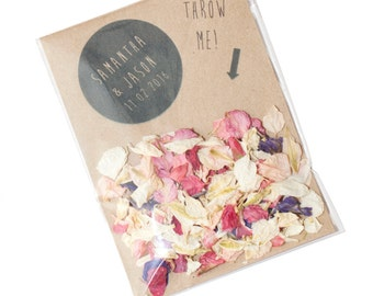 Personalised Wedding Confetti Envelopes (Biodegradable confetti)