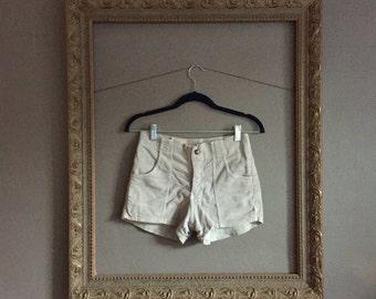 high waist corduroy shorts
