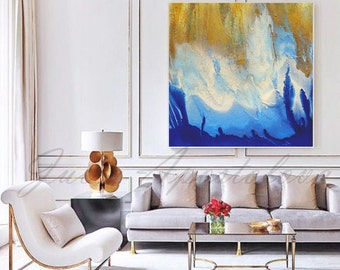 Large Contemporary Wall Art rectangle wall art gold leaf print large abstract canvas