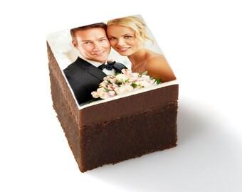 minibrownie wedding brownies