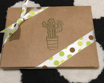 Green Cactus notecards