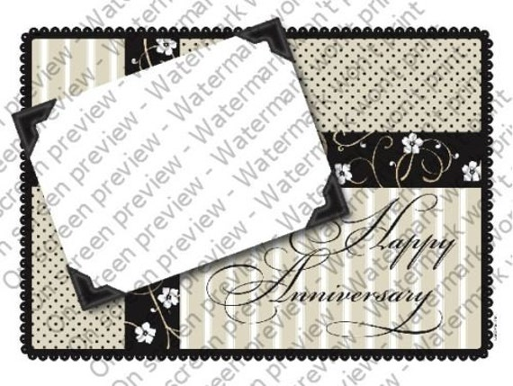 Happy Anniversary - Edible Cake and Cupcake Photo Frame For Birthday's and Parties! - D4145
