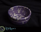Wheel Thrown Purple with Yellow Shaving Bowl -Shaving Accessories -Handmade -Army Veteran