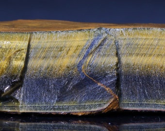 Beautiful Large Chatoyant Variegated Hawkeye Blue Gold Tigereye Natural Rough