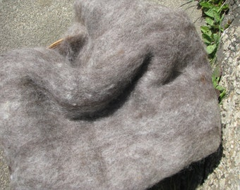 Shetland Wool Batts  Natural Grey 100g/200g- 3.52/7.04oz Batts Wet/Needle Felting/Core Wool/Spinning