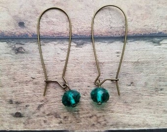 Jade crystal earrings