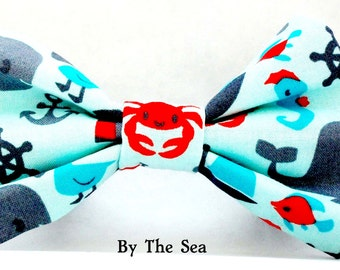 Naitical Dog Bow Tie