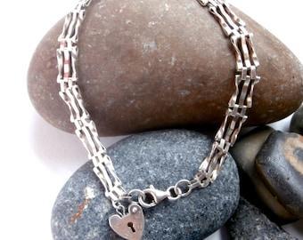 Silver Gate Bracelet - Upcycled Vintage