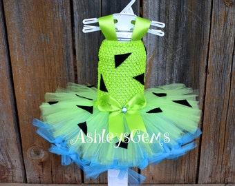 Pebbles Costume for Baby, Toddler Pebbles Costume, Pebbles Flinstone, Pebbles and Bam Bam, Pebbles Tutu, Pebbles Birthday, Flinstones