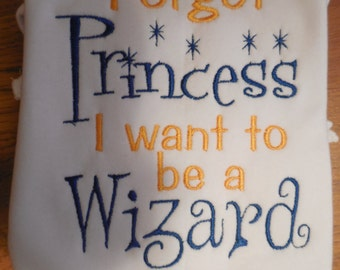 Harry Potter Universal Forget Princess I Want to be a Wizard