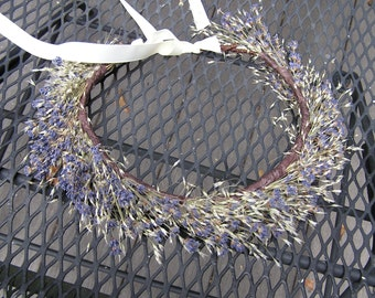 Wedding Hair Crown, Bridesmaid Dried Flower Crown, Bridal Hair Halo, Bridal Circlet, Lavender Crown, Rustic Flower Crown, Dried Flowers