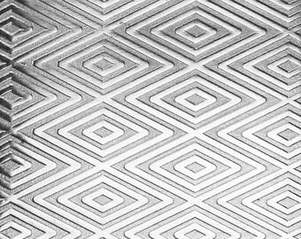 "Patterned Sterling Silver Sheet ""Triangle/Herringbone"" 2"" x 6"" (choose 18 thru 24ga)  (SSP42XX)"