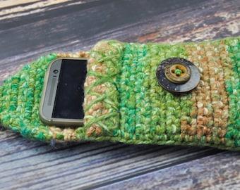 Glasses Holder- Brown- Green- Phone Case