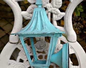 Vintage Farmhouse Lantern, Salvaged Porch Lantern, Rustic Metal Lantern, Distressed Metal Lantern, Rustic Farmhouse, Antique Metal Lamp