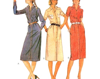 McCall's Sewing Pattern 7038 Misses Dress  Size:  6  Uncut