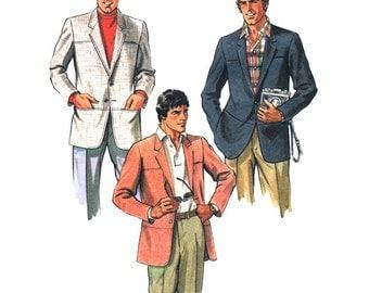 McCalls Sewing Pattern 7885 Men's Jacket  Size:  40  Uncut
