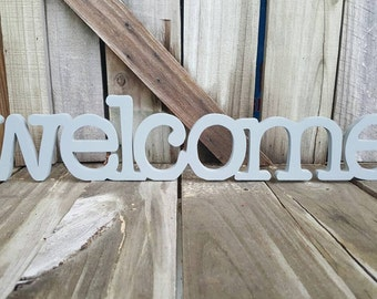 Wooden welcome sign, wall hanging,home decor, wall decor,free shipping
