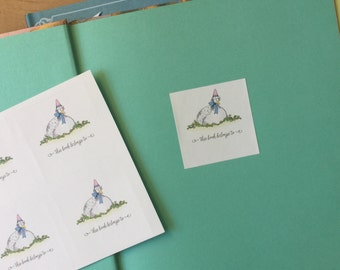 Mother Goose Book Plates - set of 12