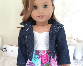 18 inch doll denim jacket