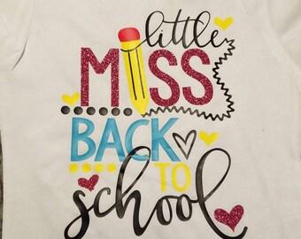 Little miss BACK TO SCHOOL.