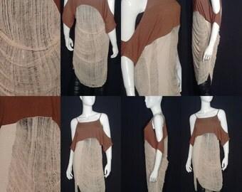 Coffee & Cream Shred Art Dress