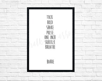 Barre wall art-digital print-DIGITAL FILE-PRINTABLE-typography-pure barre-xtend barre