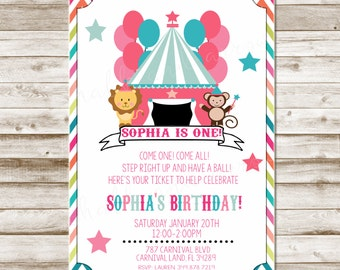 Circus or Carnival Invitation-Printable-Invitation-any age-DIGITAL FILE-PRINTABLE