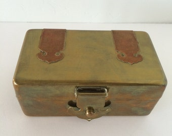 Vintage Brass and Copper Box ~ Made in Hong Kong