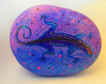 """Painted rock """"Lizzard"""""""