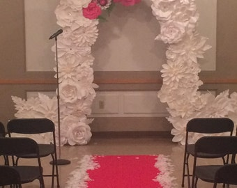 Paper Flowers for  8ft wedding arch - Accent Colors to match your Event  - FREE SHIPPING