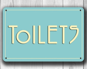 TOILET SIGN, Toilets Sign, Classic chic Toilets Sign, Toilets door sign, Toilet hanging sign, Restroom Signs, toilet decor, restroom decor
