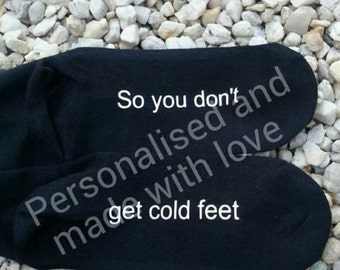 so you don't get cold feet completed pair of socks