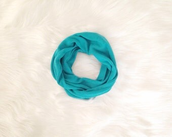 SALE! Baby Toddler Child Infinity Scarf - Teal Turquoise Green - READY to SHIP