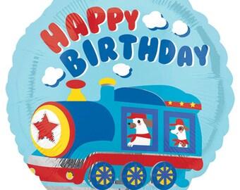 Train Birthday Party Balloons Happy Birthday Balloons Train Party Decorations Boy Birthday Train Party Choo Choo Train Balloons