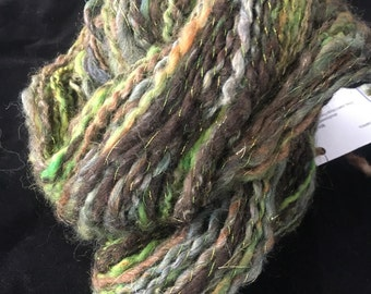 Spiral plyed art yarn