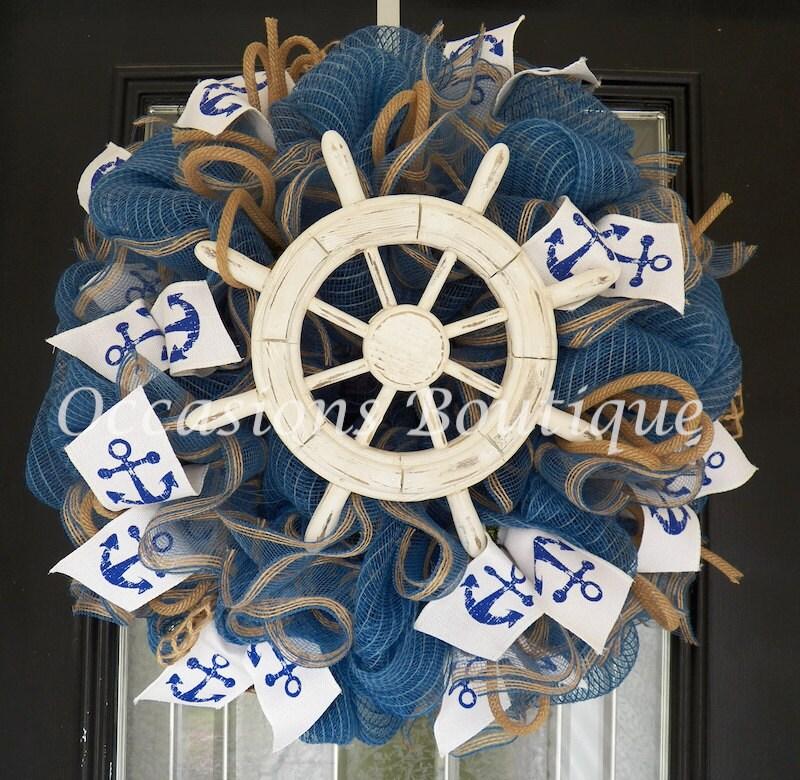Burlap summer wreath spring wreaths burlap door hanger - Kleur idee corridor ...