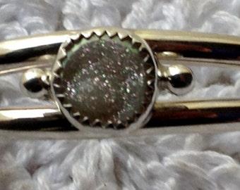 Childs Druzy Cuff Bracelet